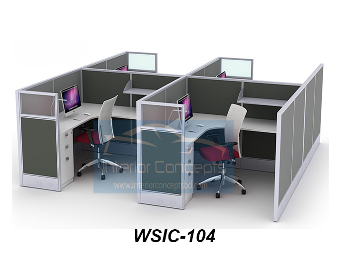 Office Workstation Design Of Interior Concept